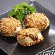 See this recipe for deep fried stuffed crab shells