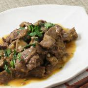 See this recipe for Stir fried Garlic Beef